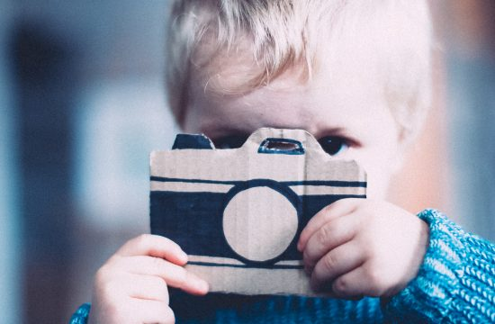 winter diy kids camera cardboard