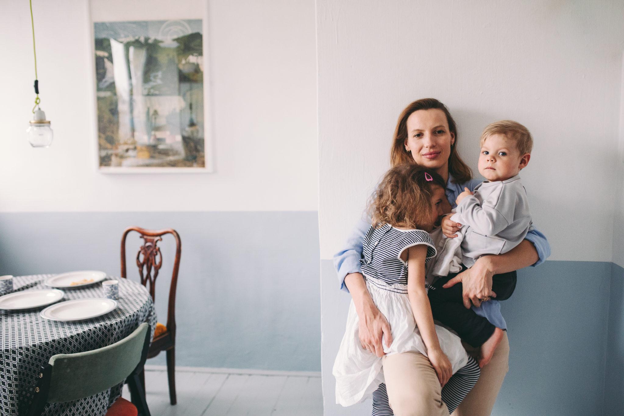 domowa sesja lifestyle z dziećmi Warszawa